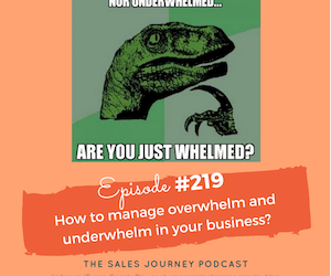 #219  How to manage overwhelm and underwhelm in your business