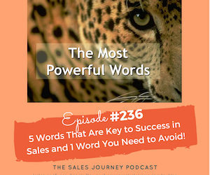 #236 5 Words That Are Key to Success In Sales and 1 Word You Need to Avoid!