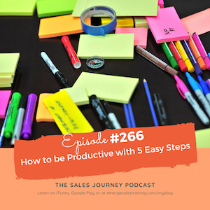 266 how to be productive with 5 easy steps emerge sales training