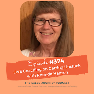 #374 LIVE Coaching on Getting Unstuck with Rhonda Hansen