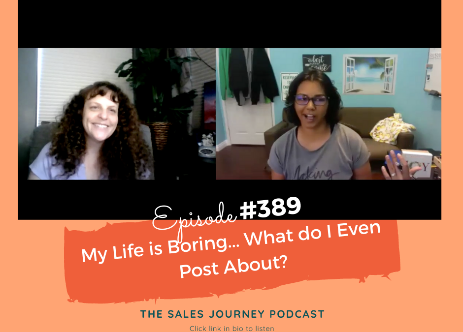 Live Social Media Coaching: My Life Is Boring, What Do I Post About? #389