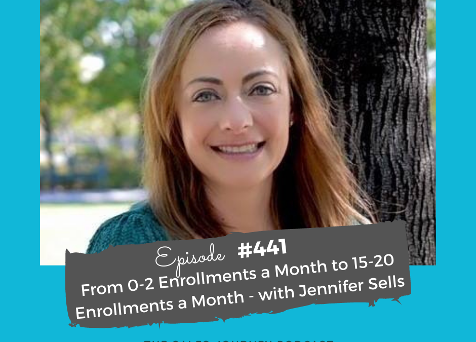 """jennifer sells headshot - """"from 0-2 enrollments a month to 15-20 enrollments a month"""